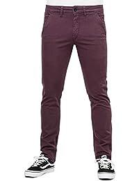 Reell Flex Tapered Chino pantalon 31/32 aubergine