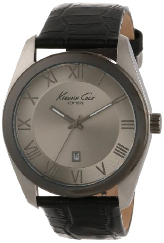 Kenneth Cole Men's 44mm Blue Calfskin Band Steel Case Quartz Grey Dial Analog Watch KC1925