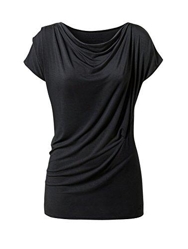 CURARE Damen Wasserfall Shirt, Black, M