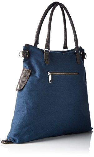 Bags4Less Damen F3151 Umhängetasche, 20x40x50 cm Blau (Weisser Stern Blau)