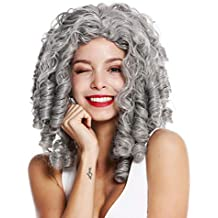 WIG ME UP ® - 91056-1-ZA68E Peluca Mujer Carnaval Halloween Barroco Rococó