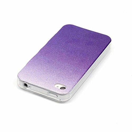 Landee TPU Silicone Étui Bling Couleur dégradado Coque pour iPhone 4 4S (4S-T-115) 4S-T-110