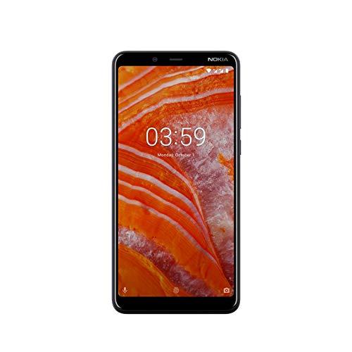 """Nokia 3.1 Plus - Smartphone de 6"""" (4G, Mediatech Helio P22, RAM de 3 GB, Memoria de 32 GB, alcoba Dual de 13+5 MP, Android-OS One) Color Azul"""