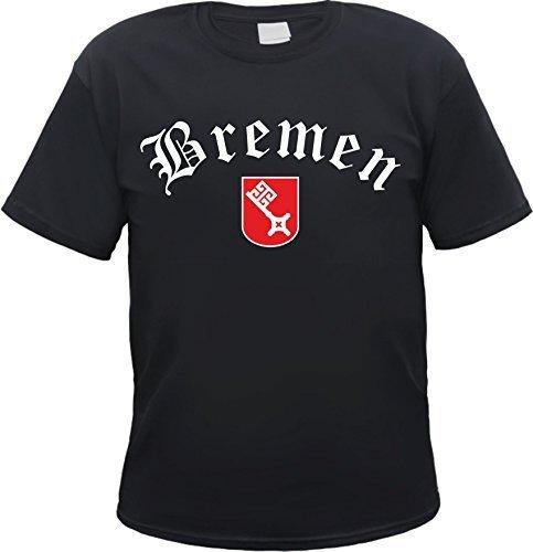 Bremen T-Shirt - Schwarz oder Weiss - mit Wappen - S bis 3XL - Hansestadt Schwarz XL
