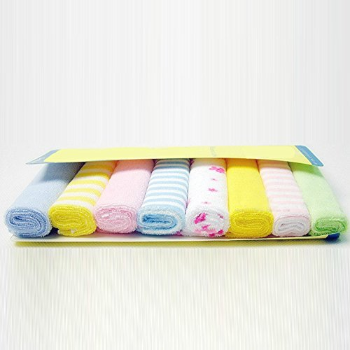 Waschlappen für Babys, 8 Stück, für Neugeborene, Jungen und Mädchen, Wie abgebildet, einheitsgröße (Neugeborenes Baby Waschlappen)