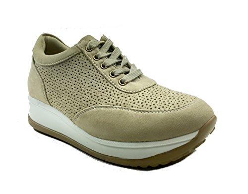 MUDS , Chaussures de ville à lacets pour femme Beige
