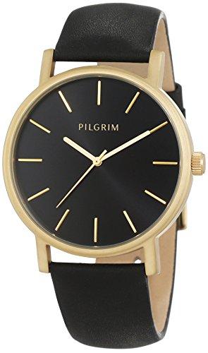 Pilgrim Damen-Armbanduhr Analog Quarz Leder 701522103
