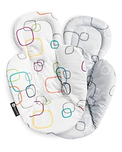 4moms Neugeboreneneinsatz für Babyschaukel , Babywippe , mamaRoo , bounceRoo , rockaRoo , beidseitig bedruckt , soft plüsch