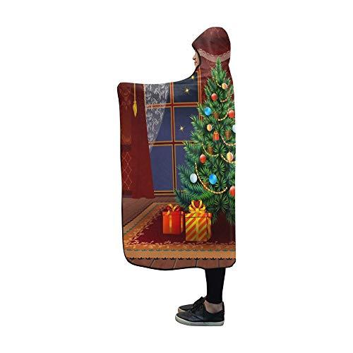 JOCHUAN Mit Kapuze Decke Weihnachtsbaum Wohnzimmer Interieur Fichte Decke 60 x 50 Zoll Comfotable Mit Kapuze Wurfverpackung -