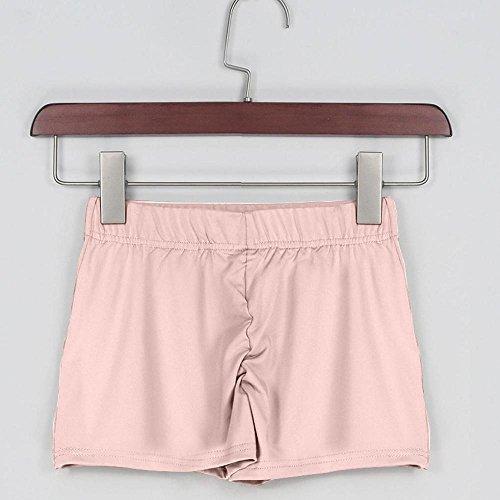 Rameng Femme Shorts de sport Doux Elastique Yoga Shorty Boxer Sous-Vêtements Bas Rose