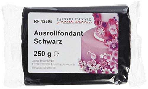 Cake Company  Fondant schwarz, 4er Pack (4 x 250 g)
