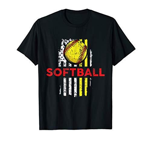 Softball USA American Flag T-Shirt