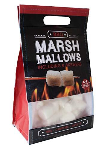 Becky´s 300g Marshmallows - Classic, ungefärbt - inklusive 6 Lagerfeuerspieße zum Grillen