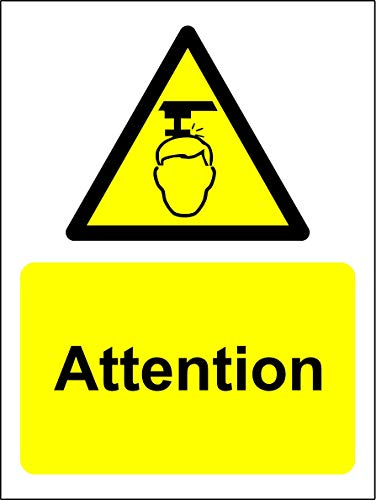 Panneau d'avertissement - 1.2mm Plastique 150mm x 100mm