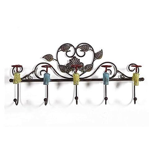 Flashing- Style De Style Méditerranéen Matériau Rétro Hook Up / Wall Hanging / Wall Ornament / Coat Racks (57*28*7cm) ( taille : 57*28*7cm )