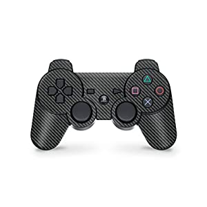 Skins4u Playstation 3 Controller Skin – Design Sticker Set für PS3 Gamepad – Carbon
