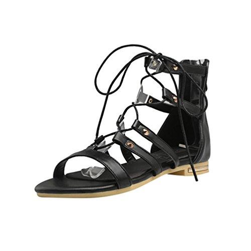 Femme sandales de style romain Noir 9dF1G
