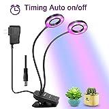 LED Luci per Piante, Muizlux 20W Doppio Lampade per Piante con Spettro Rosso/Blu e Collo d'oca Flessibile diper le Piante (il giro)