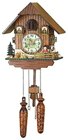 German Cuckoo Clock Quartz-movement Chalet-Style 10.00 inch - Authentic black forest cuckoo clock by Trenkle Uhren by Trenkle Uhren