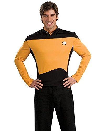 Men's Deluxe Star Trek TNG Goldenes Hemd