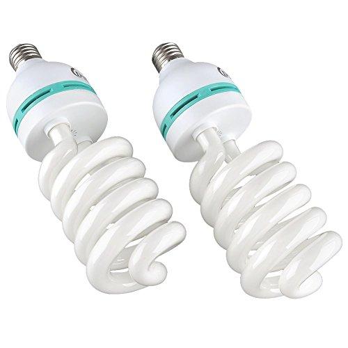 MVPower®2x 135W Fotolampe Glühlampe Fotoleuchte Tageslichtlampe Dauerlicht Energiesparlampe E27 Birne für Fotostudio Studioleuchte