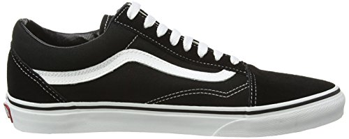 Vans Unisex-Erwachsene Old Skool Classic Suede/Canvas Sneakers Schwarz (Black/White)