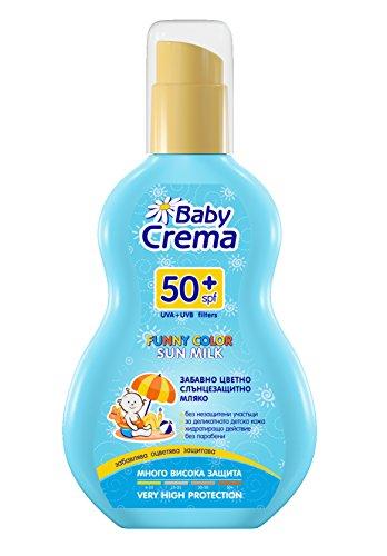 Baby Crema Lustige Farbe Sonnenmilch Schutz für Babys SPF50 + Spray 150 ml