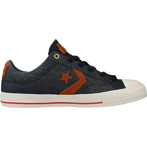 Uomo scarpa sportiva, colore Blu , marca CONVERSE, modello Uomo Scarpa Sportiva CONVERSE STAR PLAYER DENIM OX Blu Blu