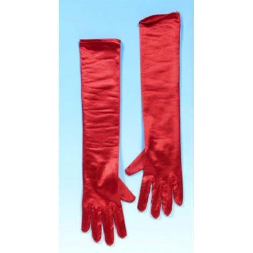 Xiton Lange Rote 45 cm Abendkleid-Handschuhe für Kostüm Zubehör ()
