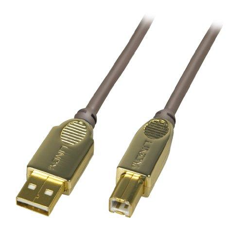 Lindy 37685 Cavo USB 2.0, A/B, 0.5m, Antracite