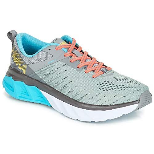 417RxK6DF5L. SS500  - HOKA ONE ONE Arahi 3 Sports Shoes Women Grey Running Shoes