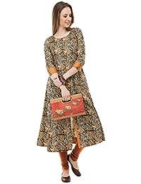AnjuShree Choice Women Stitched Printed Cotton Kurti