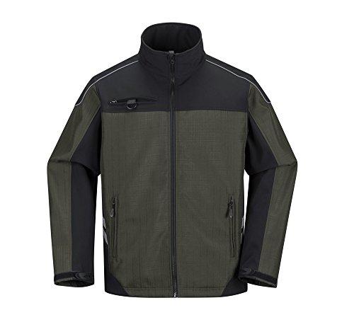 Funktionelle «atmende» Jacke Softshell, windbeständige und wasserdichte Jacke, Arbeitsjacke, universelle Jacke (Unisex) - Braun - XL