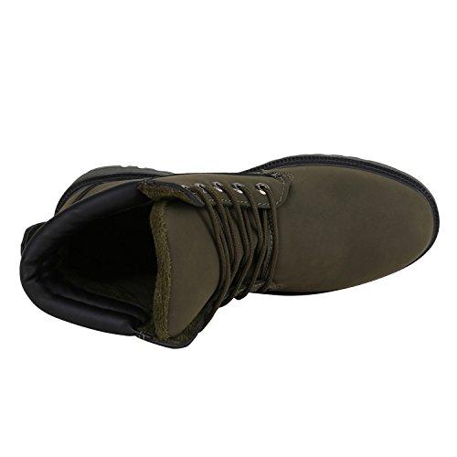 Stivale Da Uomo Bootparadise Stivali Scarpe Da Ginnastica Caldo Profilo Interno Foderato Flandell Verde Scuro Carlet