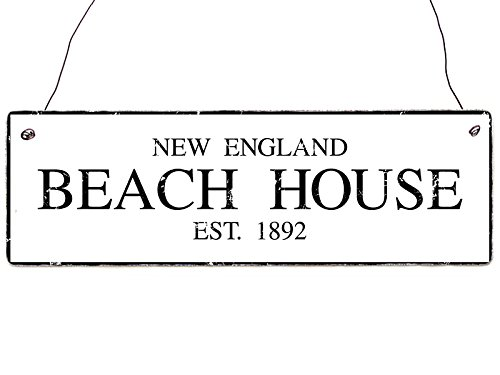 Shabby Vintage Dekoschild Holzschild BEACH HOUSE New England Stil