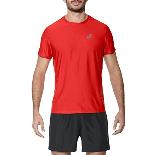 Asics Herren Short Sleeve Top Rot (fiery red)