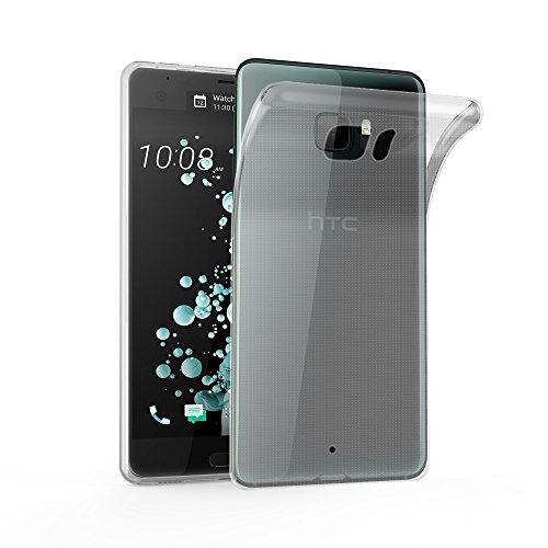 Cadorabo Hülle für HTC U Ultra - Hülle in VOLL TRANSPARENT - Handyhülle aus TPU Silikon im Ultra Slim 'AIR' Design - Silikonhülle Schutzhülle Soft Back Cover Case Bumper