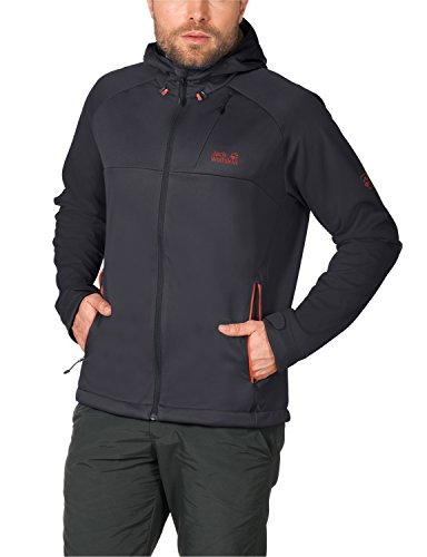 Jack Wolfskin Herren Softshelljacke Sonic Barrier Jacket M, Ebony, L, 1303411-6230004 (Select Barrier Herren)