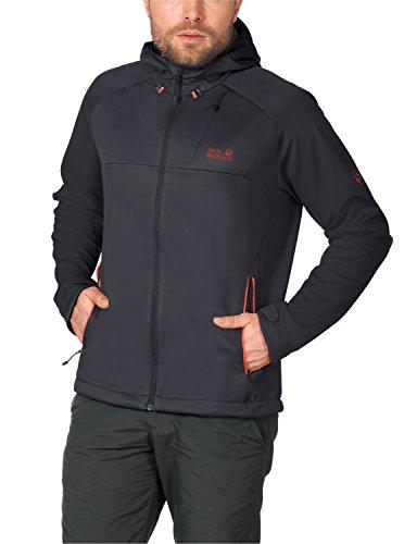 Jack Wolfskin Herren Softshelljacke Sonic Barrier Jacket M, Ebony, L, 1303411-6230004 (Barrier Herren Select)