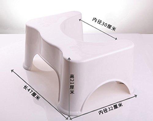HYP-Ergonomische Toilettenhocker Toilettenhocker ErwachseneHocker Hocker Polster Hocker Kunststoffhocker dicker Erwachsener?white