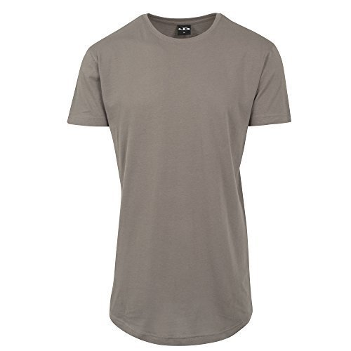 Green T-shirt Tee (Urbandreamz Herren T-Shirt Shaped Long Tee Rundhals Army Green - 4XL -)