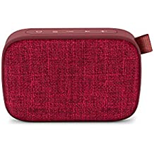 Energy Fabric Box 1+ Pocket Cherry - Altavoz portátil (TWS, Bluetooth v5.0, 3W, USB & microSD Player, FM Radio, Audio-In), Color Rojo (Cherry)