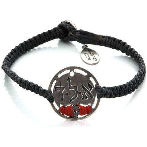 Mizze Made For Luck Jewelry Denim Blu e Rosso Kabbalah Ald protezione Charm Bracelet