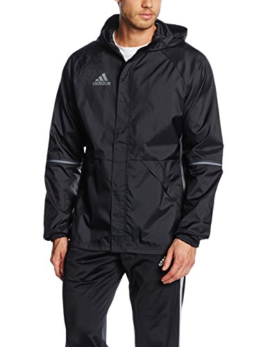 adidas Herren Regenjacke Condivo 16, Black/Vista Grey S15, L, AN9862 (Track Adidas-männer Jacket)