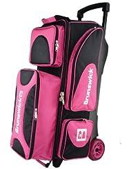 Brunswick Flash X Triple Roller - Bolsa de bolos, color rosa