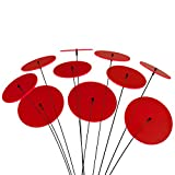 SUNPLAY sun catcher disques en ROUGE, set de 10 pièces de 10 cm de diamètre + tiges de 35 cm.