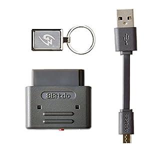 Gam3Gear 8Bitdo PS3 Dualshock 3 PS4 Dualshock 4 Wiimote Wii U Pro Controller Bluetooth Wireless Retro-Empfänger für SNES SFC mit Schlüsselanhänger