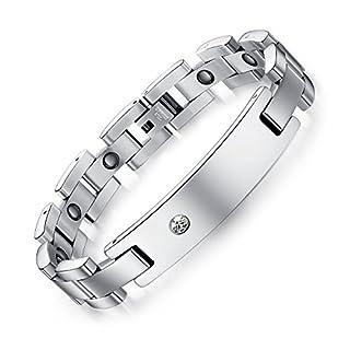 Aituo Titanium steel health bracelet, health magnet bracelet,Magnetic Therapy Pain Relief Bracelet For Arthritis In Women Men Bangle