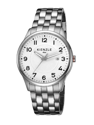 Kienzle K3043012062-00058 - Reloj analógico de cuarzo unisex con correa de acero inoxidable, color blanco