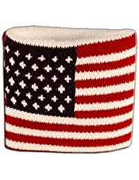 Digni® Poignet éponge avec drapeau USA - Pack de 2 pièces